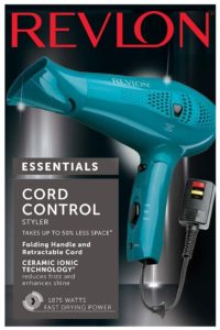 Revlon Retractable Cord Hair Dryer : Style And Go Compact Dryer